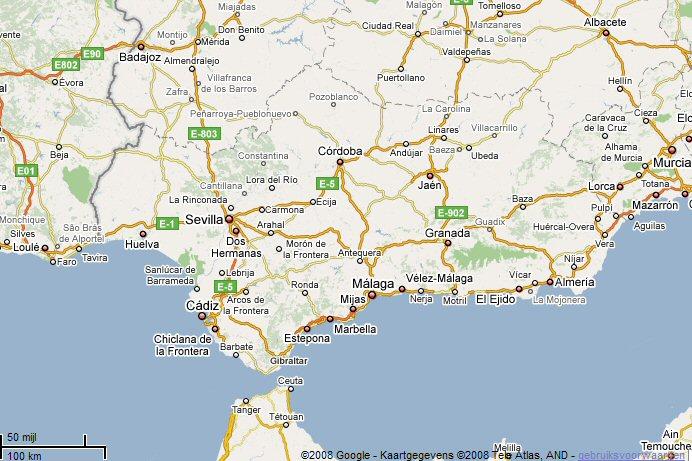 Kaart Van Andalusie Geografie Topografie Pictures