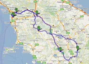 waar ligt toscane in italie